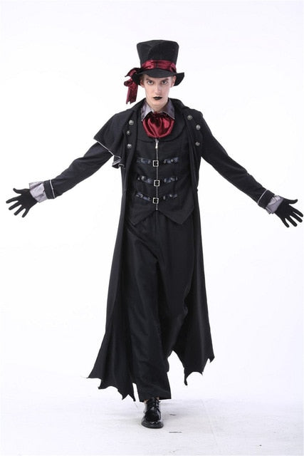 Vampire Halloween Costume: Complete Set-PocketOutdoor-M-M-PocketOutdoor