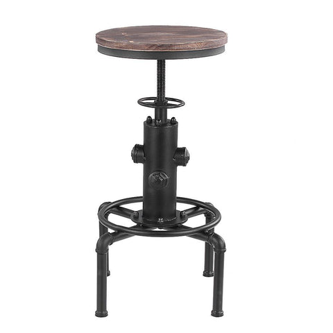 Front view of vintage metal stool
