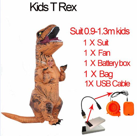 Kids Inflatable Dinosaur Costume - T-Rex-PocketOutdoor-Kids T Rex-L-PocketOutdoor