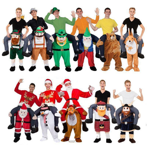 Ride on Me Mascot Costumes Carry Back-Costume-Pocket Outdoor-Pocket Outdoor