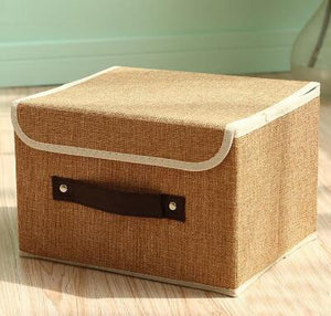 Solid color small fresh storage box-storage organizer-Pocket Outdoor-S-Coffee-Pocket Outdoor