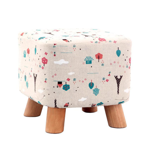 Solid wood home stool living room sofa stool-furniture-Pocket Outdoor-Pocket Outdoor