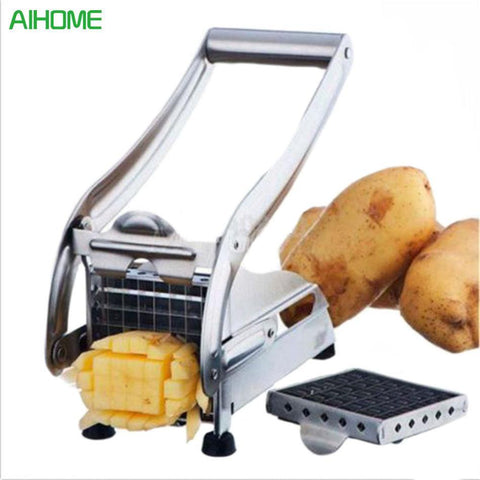 Stainless Steel Home French Fries Potato Strip Cutting Cutter + 2 Blades-kitchen-Pocket Outdoor-Pocket Outdoor