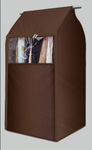 Transparent big Dust-proof clothes bag for wardrobe-storage organizer-Pocket Outdoor-coffee-80 x 50 x 54-Pocket Outdoor