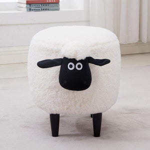 Washable Stool with Storage: Sheep Edition-sofa-Pocket Outdoor-White no box washable-Pocket Outdoor