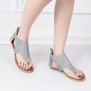 Women's rivet open toe flat sandals