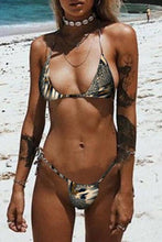 Load image into Gallery viewer, Halter  Leopard Printed Bikini
