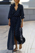 Load image into Gallery viewer, V Collar Printing Chiffon Vintage Maxi Dresses
