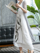 Load image into Gallery viewer, Casual Lotus Printed Two-Piece Maxi Dress