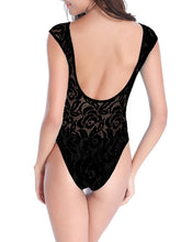 Load image into Gallery viewer, See-Through Lace Deep One Piece