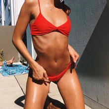 Load image into Gallery viewer, Pure Color Sexy Bikini Swimwear