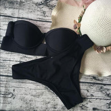 Load image into Gallery viewer, Black Sexy Bikini Swimwear