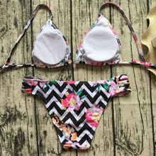 Load image into Gallery viewer, Colorful Stripe Printed Swimsuit