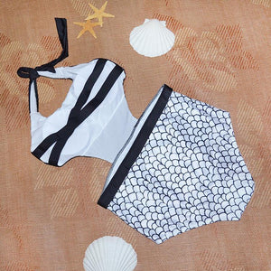High Waist Siamese Bikini Swimsuit