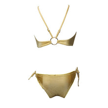 Load image into Gallery viewer, Sexy Gold Bikini Swimwear