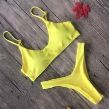Load image into Gallery viewer, Solid-Color Soft Bikini Swimwear