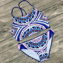 Load image into Gallery viewer, Bohemia Geometric Printing Swimsuit