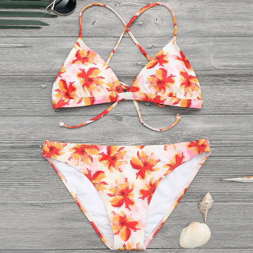 Sunny Printed Sexy Swimsuit Set