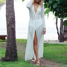 Load image into Gallery viewer, Lace Beach Cardigan Bikini Long Dress