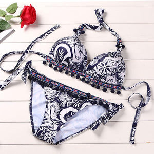 Fashion Sexy Printed Bikini Set