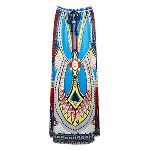 Ethnic Printed Vacation Half-Skirt