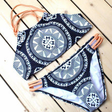 Load image into Gallery viewer, Ethnic Printed Halter Bikini Swimwear