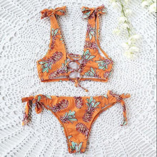 Load image into Gallery viewer, Floral Printed Bow-Knot Bikini Set