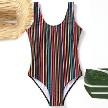 Load image into Gallery viewer, Classic Stripe One-Piece Swimsuit