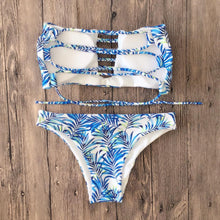 Load image into Gallery viewer, Sexy Printed Straps Bikini Swimsuit