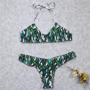 Summer Green Sexy Bikini Set