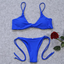 Load image into Gallery viewer, Simple Style Sexy Halter Bikini Swimsuit