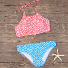 Load image into Gallery viewer, Halter Geometric Printing Swimwear