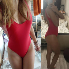 Load image into Gallery viewer, Sexy Solid-Color V-Neck One-Piece Swimwear
