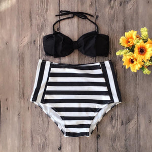 Lovely Bow-Knot Halter Swimwear