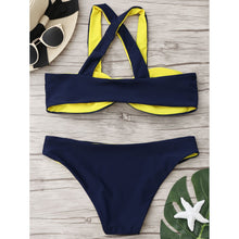 Load image into Gallery viewer, Spell Color Bow-Knot Swimwear Bikini Set