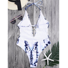 Load image into Gallery viewer, White - Colored Ladies' Triangle Swimsuit