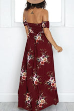 Load image into Gallery viewer, Off Shoulder  Asymmetric Hem Maxi Dresses