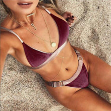 Load image into Gallery viewer, Sexy Fashion Spell Color Bikini Swimwear