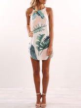 Load image into Gallery viewer, Halter  Printed Shift Dresses