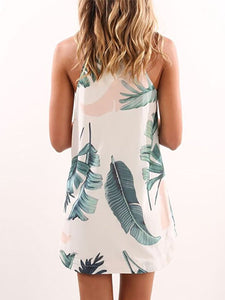 Halter  Printed Shift Dresses