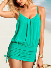 Load image into Gallery viewer, Belt Loops  Plain  Sleeveless One Piece Swimwear