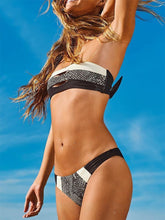 Load image into Gallery viewer, Collarless  Color Block Bikini