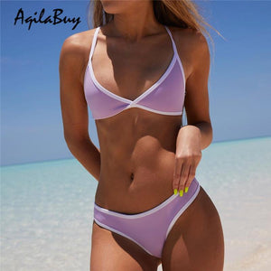 Sexy Spell Color Bikini Set Swimwear