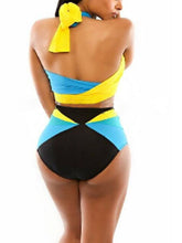 Load image into Gallery viewer, Surplice  Color Block Bikini