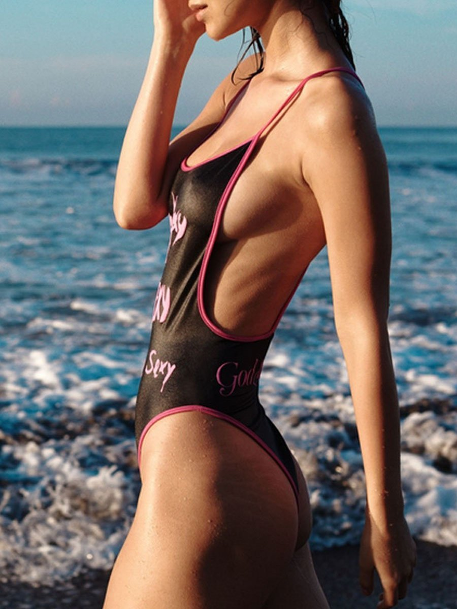 Spaghetti Strap One Piece
