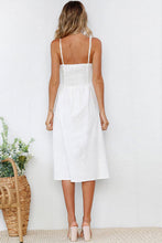 Load image into Gallery viewer, Spaghetti Strap  Single Breasted  Plain  Sleeveless Maxi Dresses