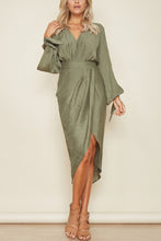Load image into Gallery viewer, Fashion Long Sleeves V Neck Maxi Dress