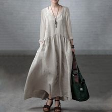 Load image into Gallery viewer, V-Neck  Plain Casual  Maxi Dresses