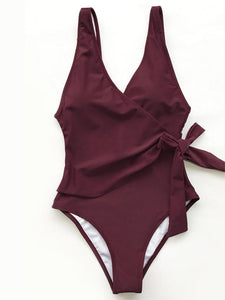 Spaghetti Strap  Belt  Plain One Piece