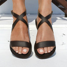 Load image into Gallery viewer, Open-Toed Flat-Bottomed Sandals